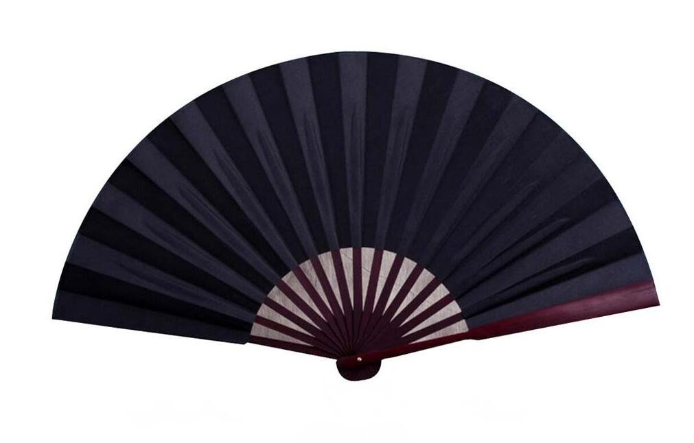 Peino Chinese Style Traditional Painting Fan Hand Held Folding Fan Hand Fan (Black)