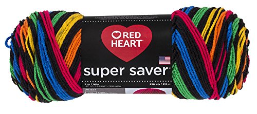 Machine & Coats Quilting Clark (Red Heart Yarn Red Heart Super Saver Primary Stripes, Primary Stripes)