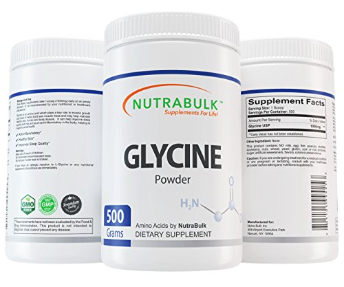 NutraBulk Glycine Amino Acid Powder - 500 Grams (1.1lbs) by NutraBulk