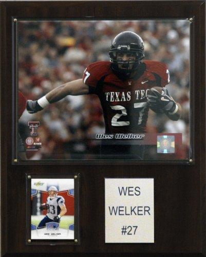 NCAA Football Wes Welker Texas Tech Red Raiders Player Plaque (Framed Raiders Tech Texas Red)