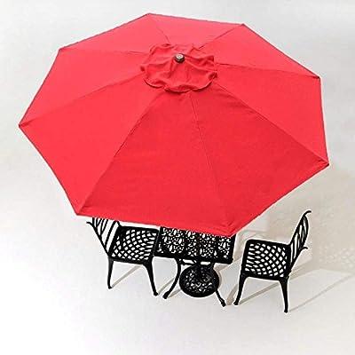 CHIMAERA 8' 8-Rib Patio Umbrella Replacement Canopy Outdoor Cover Top (Red) : Garden & Outdoor