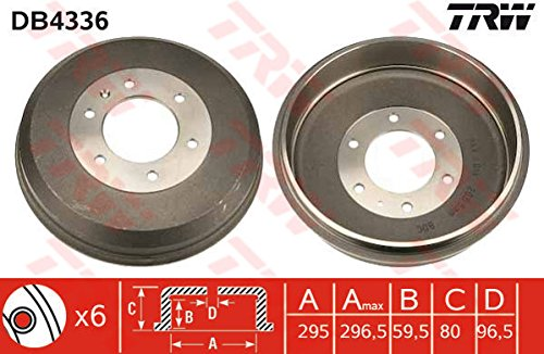 TRW DB4336 Brake Drums: