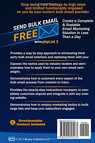 amazon send bulk email free with phplist3 the definitive guide to