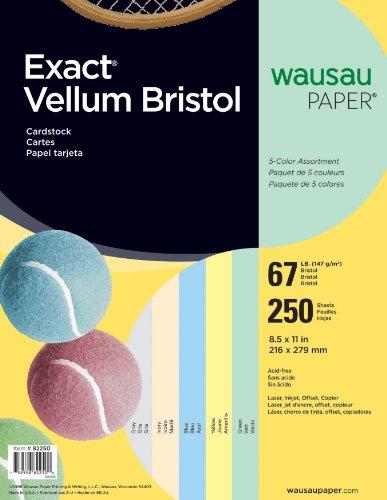 Neenah Exact Vellum Bristol, 8.5 X 11 Inches, Assorted, 250 Count - Paper Vellum Paper Wausau