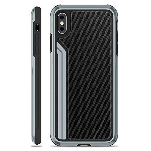OCYCLONE Luxuries Series 2-nd, iPhone Xs Max Case - Military Grade Drop Tested, Aluminum Metal, Carbon Fiber and Anti-Drop Protective Case for iPhone Xs Max, 6.5