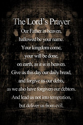 Shroud of Turin The Lords Prayer Inspirational Motivational Religious Cool Huge Large Giant Poster Art 36×54