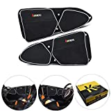 KEMIMOTO RZR 1000 Door Bags Driver and Passenger Side Front Upper Storage Bag with Knee Protection for Polaris RZR XP 1000 RZR 900