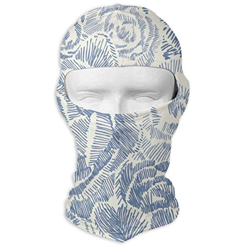 Yuisdwz Porcelain Roses Balaclava Face Mask Hood Outdoor Sport Hat for Ski,Cycling,Motorcycling,Climbing