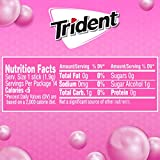 Trident Bubblegum Sugar Free Gum, 12 Packs of 14