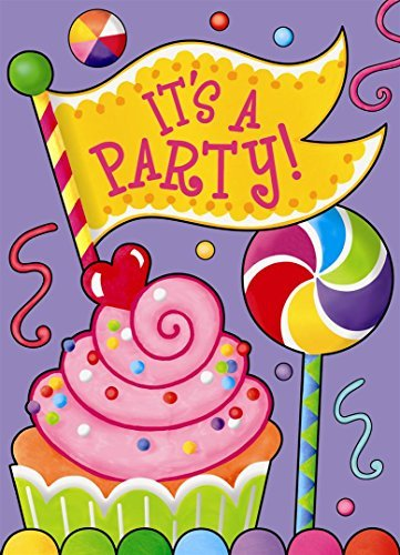 amazon com candy party invitations pack of 8 by unique party toys