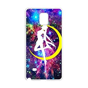 Yellow moon dancing girl Cell Phone Case for Samsung Galaxy Note4