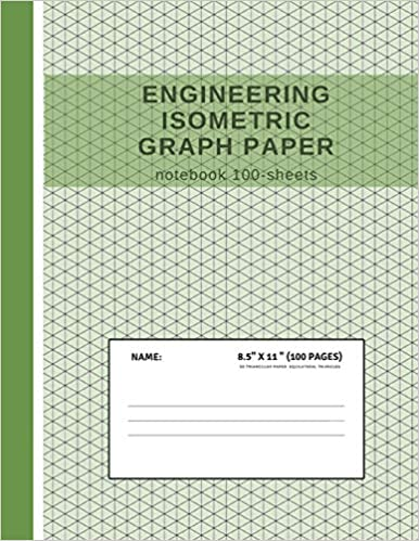 engineering isometric graph paper notebook 100 sheets grid of