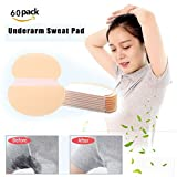 60Pcs Underarm Sweat Pads, Armpit Pads, High Quality Fight Hyperhidrosis for Men and Women Disposable Dress Guards/Shields, Sweat Free Armpit Protection,Suitable for Business Negotiations, Interviews