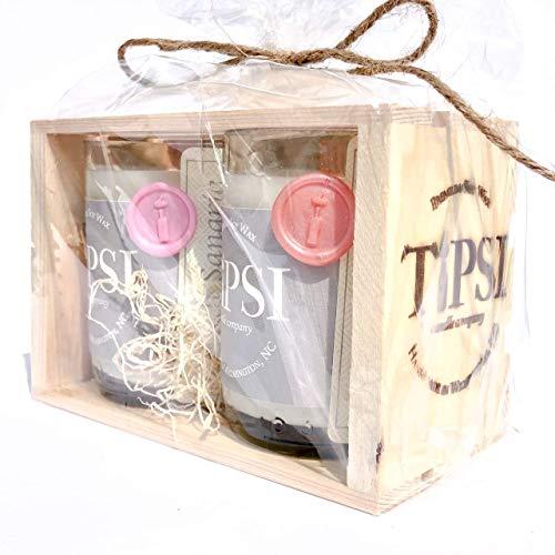 Repurposed Mini Wine Bottle Candles (Rosé & Peach Sangria)]()