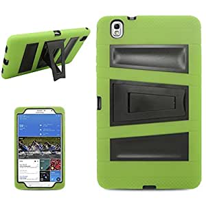 [ARENA] GREEN BLACK HYBRID STRIPE STAND COVER HARD GEL CASE for SAMSUNG GALAXY TAB PRO 8.4