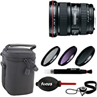 Canon EF 17-40mm f/4L USM Ultra Wide Angle Zoom Lens + Deluxe Accessory Kit