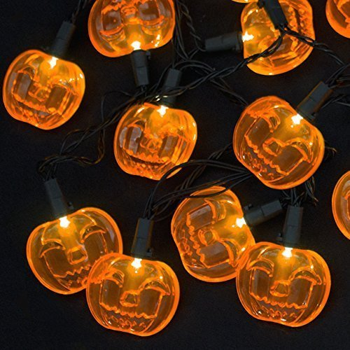 Homemade Halloween Props For Haunted House (LED Lights 10 Count Toddlers Kids Jack O Lantern Scary Spooky Creepy /Turkey Harvest Halloween Party Indoor Outdoor Decoration Decorations Decor Haunted House Pumpkins Bundle of 2)