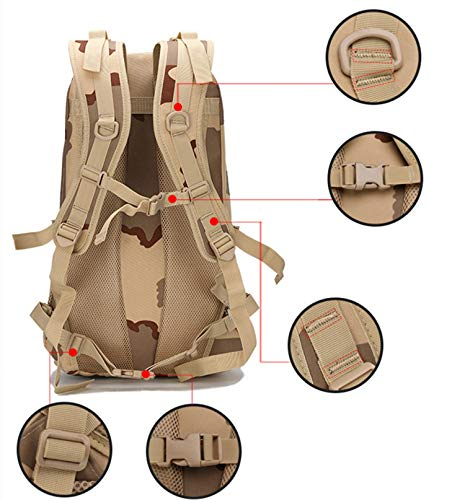 XRPXRP 35L Tactical Attack Backpack Waterproof Military Molle Backpack Military Backpack Hiking Camping Hiking Hunting 3