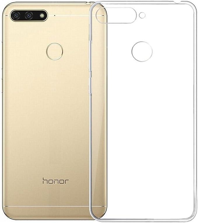 REY Funda Carcasa Gel Transparente para Huawei Honor 7A / Y6 Prime ...