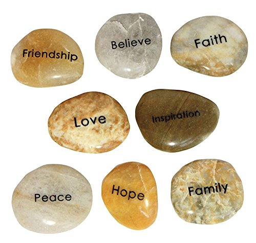 Engraved Inspirational Word Stones (8 different words)