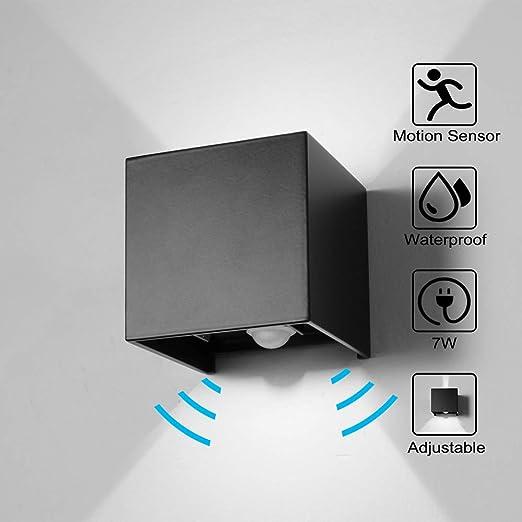WZOED Pared Detector de Movimiento Exterior/Detector de Movimiento Interior LED Lámpara de Pared: Amazon.es: Juguetes y juegos