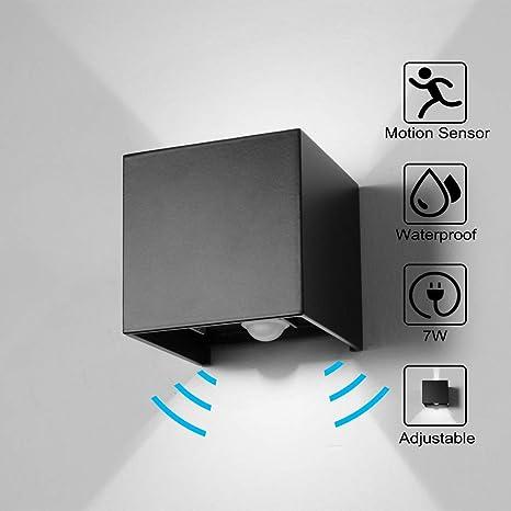 WZOED Pared Detector de Movimiento Exterior/Detector de Movimiento Interior LED Lámpara de Pared