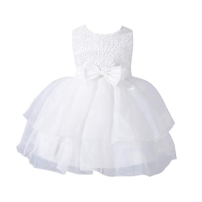 ff424a1b6607 MORESAVE Neonate principessa di bowknot vestito dalla festa nuziale della damigella  d onore Abiti Organza