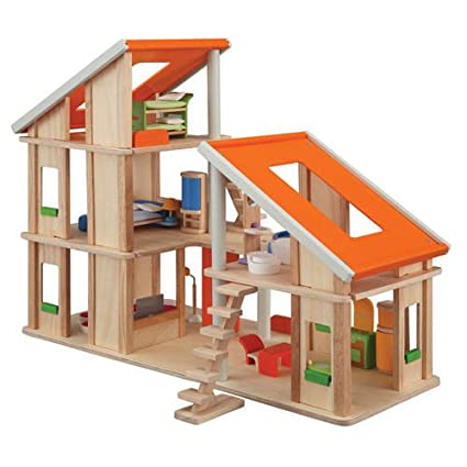 Furniture For Dollhouse To Plan Toy Chalet Doll House With Furniture Amazoncom Furniture Toys u0026 Games