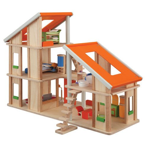 Dollhouse Chalet (Plan Toy Chalet Doll House with Furniture)