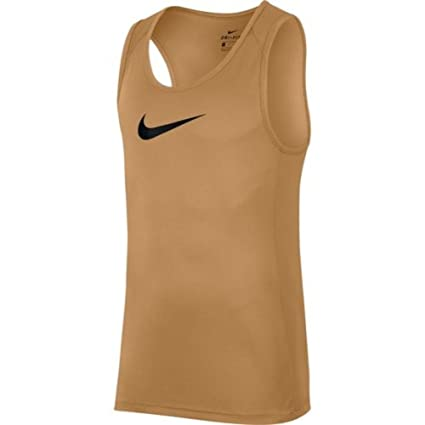 75aad75e7f452 Amazon.com  Nike Men s Dry Crossover Basketball Tank Top Gold Black- Large   Sports   Outdoors