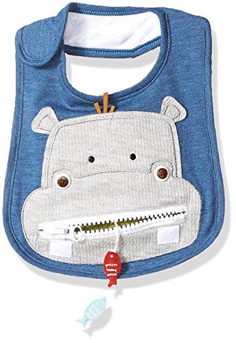 Mud Pie Baby Boys' Safari Zipper Bib, hippo, ONE SIZE (Hippo Baby Clothes)