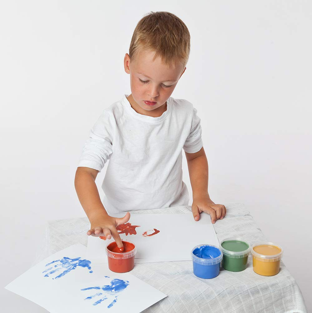 mehrfarbig gr/ün 500 g rot blau GR/ÜNSPECHT Naturprodukte 691-00 Bio-Fingermalfarbe gelb