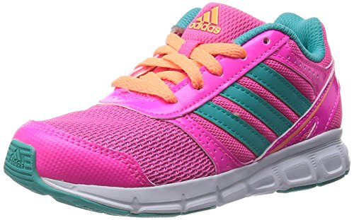 adidas HyperFast - Zapatillas de running para niñas Solar Pink/Vivid Mint F14/Flash Orange S15