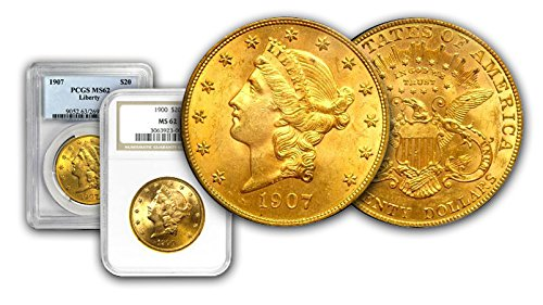 Certified Gold Coin - 1907 - Or Other Dates Gold Coin In MS-62 PCGS/NGC Certified. Mint mark of our choice. $20 MS62 PCGS