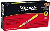 Sharpie Fine Point Permanent Markers, 12 Yellow