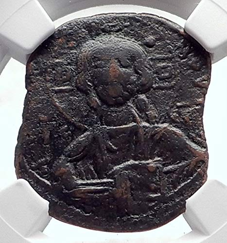 1000 TR JESUS CHRIST Class B Anonymous Ancient Byzantine coin Ch F NGC