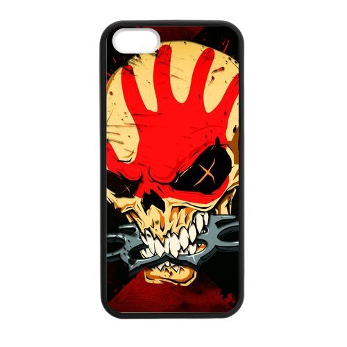 new concept 12381 c2f43 Zyhome iPhone 5,5S More Like Five Finger Death Punch Skull Case Cover for  iPhone 5,5S TPU (Laser Technology)