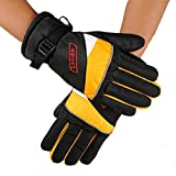Binmer(TM)12V Charging Gloves Grips Electric Car Electric Heating Glove Thermal Insulation (Yellow)