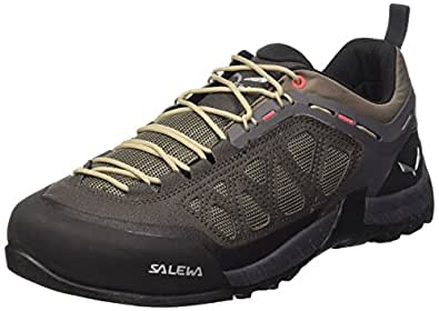 Salewa Men's Firetail 3 Approach Shoes, Black Olive/Papavero, 10