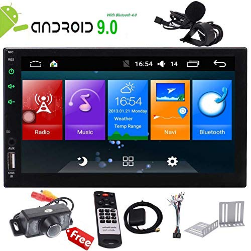 Android 9.0 Touch Screen Car Stereo 7 inch Double Din in Dash Car Radio Video...