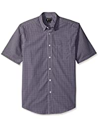 Haggar Mens Short Sleeve Check Shirts