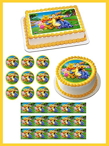Winnie Pooh 1 Edible Birthday Cake OR Cupcake Topper 18 20 Sheet Inches
