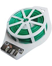 Hyindoor Plastic Twist Tie,164ft,Wire Spool roll with Cutter, for Garden Yard