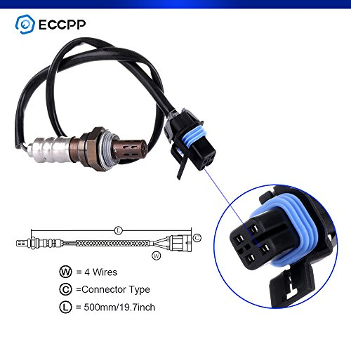 Oxygen Sensor,ECCPP Replacement Downstream Fit SG277 Rear O2 for 1996-2004 Buick Century 1997-2003 GMC Sonoma ()
