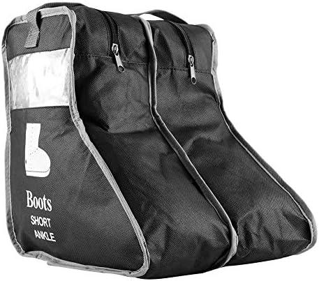 Jadeshay ブーツの靴収納ジップバッグ不織布防塵ケースホームトラベルポータブルオーガナイザー(ブラック、S)