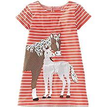BEILEI CREATIONS Little Girls Dress Cartoon Cotton Kids Summer Dress Crew-Neck