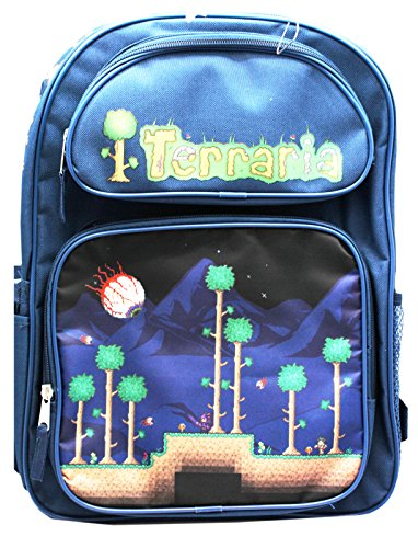 Terraria Navy Blue Boys Full Size School Backpack (16in) -