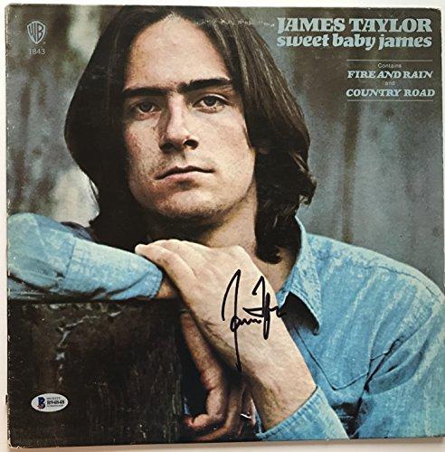James Taylor signed Album sweet baby james lp autographed beckett coa