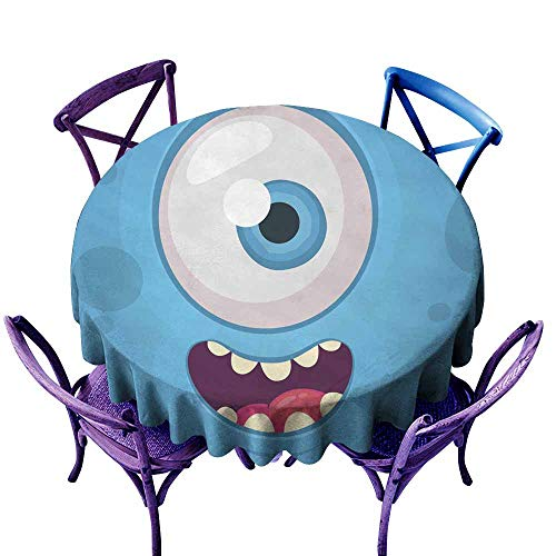 AFGG Round Tablecloth Funny Monster One Eye Face