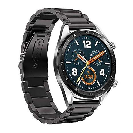 Riou Correa para Reloj,❤️para Huawei Watch GT Correa para la muñeca de reemplazo rápido de liberación rápida de Acero Inoxidable Pulseras de Repuesto ...